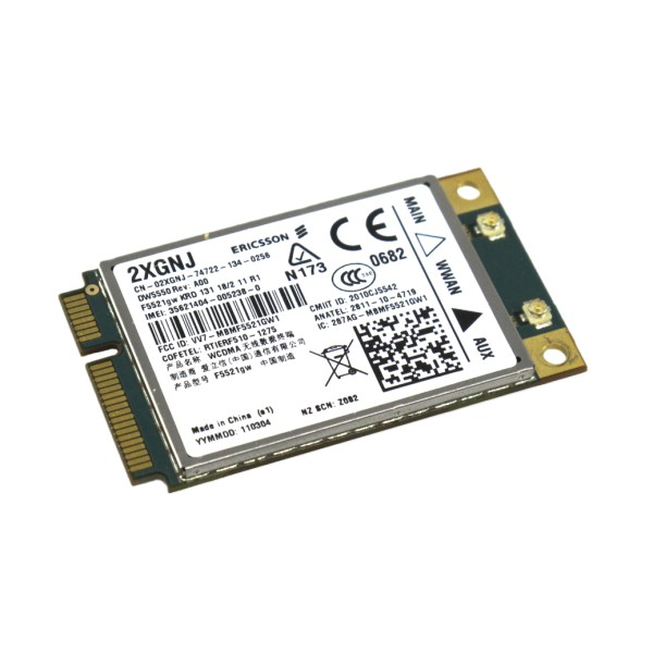 Dell 5550 WWAN 3G Mobile Broadband 2XGNJ Ericsson F5521gw